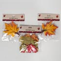 Fall Leaves 3ast 10ct Wired Oak Or Maple Or 150ct Mixed Polyestr Gov Harvest Polybag Header