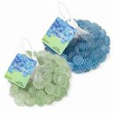 Craft Gems Glass 14oz 2ast Frosted Blue Or Green Discs Mesh Bag W/header
