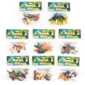 Animal World 6pk/8asst Plastic Figures On 12pc Clipstrip