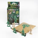 Army Soldier 32pc W/storage Bag Grn/brwn Plstc In Color Box