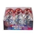 Bouncing Ball Glitter Water 2.5in Dia 4ast In 12pc Pdq