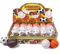 Squeeze Ball 4asst Sports Foot/base/basket/soccer 24pc Pdq Opp Bag W/label