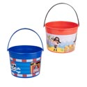 Pirate Bucket Plastic W/handle 2ast Red Or Blue Upc Label