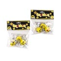 Emoticon Mini Figures 2.5in Bendable 3pks-5ast Faces/pbh