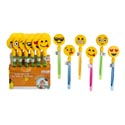 Bubble Wand W/emoticon Clapper 12inch 6asst In 24pc Pdq