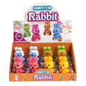 Wind Up Toy Rabbit 6ast Colors 12pc Pdq
