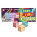 Chalk Cubes 10pc Marble Effect 5asst Color In Printed Box 1 1/4in Cubes