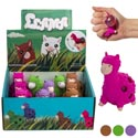 Alpaca W/squishy Bubble 4ast Colors 12pc Pdq/ht *2.99* Purple/brown/pink/green Age 5+