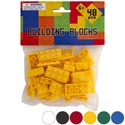 Blocks Solid Color Bricks 48pcs 6ast Compatable With All Brands Pbh/ages 6+