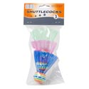 Shuttlecocks 3pk W/eva Head 3ast Color Plastic Tails/pbh