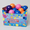 Bouncing Ball 4in Glitter 4asst Colors In 36pc Pdq Ea Pc W/barcode