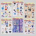 Stickers Pop-up Diecut Back-to- School Theme 6asst Polybag Header Card