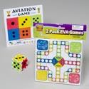 Games Eva 2pk 6x8in Ludo W/build A Dice Gov Logo Polybag/hdr