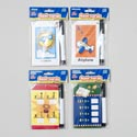 Flash Card Write On W/marker 13pc 3.25 X 5.25in 4ast Designs 210gsm Paper