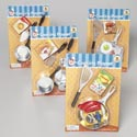 Cooking Playset 5-6pc Plated Pans/tools W/boxed Food Blister Card