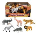 Wild Animal Figure 6asst Styles 4.75in In 24pc Pdq/hangtag