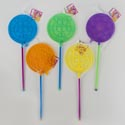 Bubble Wand Giant 8in Dia W/ Crystal Handle 22in L Net/ht 5 Asst Clrs/2 Asst Styles