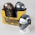 Helmet Knight Silver Or Copper Plastic In 24pc Pdq W/sticker