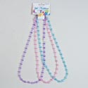 Necklace Faceted Crystal Beads 3pk 14in Blue/pink/pur Mixed/hdr