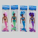 Mermaid 11in Blk W/play Mirror & Comb Pink/grn/purp/blue Pbh