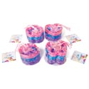 Bracelet Plastic 10pk/36pc Pdq Round/heart/butterfly/flower 3colors Per Pk/pvc Bag/with Ht