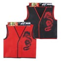 Ninja Vest Black Or Red Nonwoven/header Card