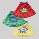 Cape Satin Superhero Kids Deluxe 3ast Yellow/red/green Colors Velcro Close 55x25in Hero Header