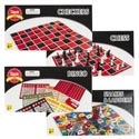 Board Games 4asst Color Boxed Checkers/chess/bingo/snakes N Ladders Printed Box