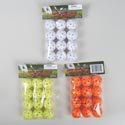 Practice Golf Ball W/holes 12pk 50% White/25% Neon Yellow&orange Gov Logo Polybag/header