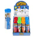 Skydiver Parachute 4asst Colors In Acetate Tube 24pc Pdq/label