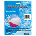 Beach Ball Inflatable 20in Dia Multi-color Panels Plastic Polybag/insert
