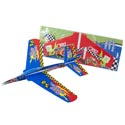 Foam Glider Jumbo 18.25 X 7in Blue/red Bomber Pbbacker Card