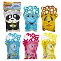 Bubble Glove Pvc Prntd 6ast Animals Wave/play 2x50ml Ptd Hdr 3-unicorn/3-doublesided Animals