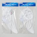 Angel Wings Costume White W/wand Or Halo Pbh