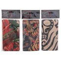 Tattoo Sleeve 17.5in L 3 Ast Designs Halloween Pbh Snake/pirate/dragon