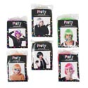Wig Ladies Bob Style 6ast 4neons/black/platinum Color Pb/full Insert Card
