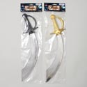 Pirate Cutlass 17.5in L 2ast Color Hilt Gold/blk Pirate Pbh