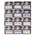 Eyelashes False 12asst Novelty Solid Neon Clrs 2 Sizes/6colors Blister Card