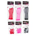 Costume Fishnet Fingerless Gloves 2 Styles/4 Color Ea On Hand Shaped Card In Pb W/header