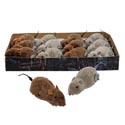 Mouse Wind-up Furry 2ast Color Brown/grey 2.75x2in In 12pc Pdq