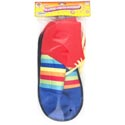 Clown Jumbo Shoe Covers Striped Satin 13in L Pbh