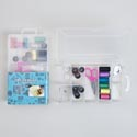 Sewing Kit In Compartment Box 20pc Peggable Sewing Box