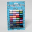 Sewing Thread 36 Spools 10yrds Ea Multicolor 100% Polyester Sewing Blister Card