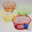 Basket Oval With Handle Pe Coated Wire Mesh 7.5x5.5x5h 4asst Brite Colors/hang Tag