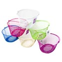Basket Oval With Handle Pe Coated Wire Mesh 7.5x9.5x5h 6asst Colors/hang Tag