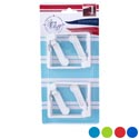 Tablecloth Clamps 4pk Spring- Loaded 4asst Brites + White Summer Blister Card