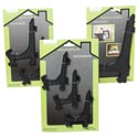 Easel Black Asst Sizes 1-9.75in/2-6.5in/3-4.5in Houseware Tcd