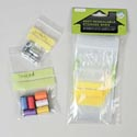 Storage Bags Mini W/label Strip **50ct 2sizes On 12pc Mdsg Strip Pe Home Polybag Header