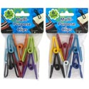 "Clips Multi-purpose Vinyl Coated Asst Color 2.25""l 12pc Mdsgstrip Pbh"