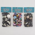 Buttons Value Pk Resin 100g 3ast Color/size Multiuse Sewing Pbh